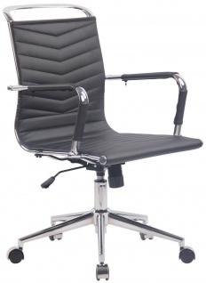 Drehstuhl 136 belastbar schwarz Bürostuhl Arbeitshocker Chromgestell verchromt