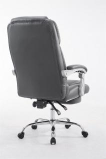 XXL Bürostuhl bis 150kg belastbar grau Kunstleder Chefsessel Fußablage Drehstuhl - Vorschau 4