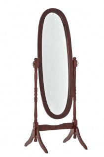 Standspiegel oval kirsch Shabby Chic-Landhaussti Holz antik Vintage Flur Schlaf