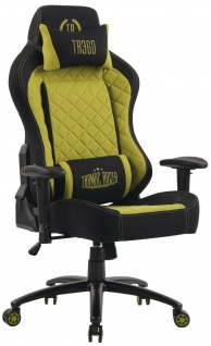 XL Bürostuhl 150 kg belastbar schwarz grün Stoffbezug Chefsessel Gaming Zocker