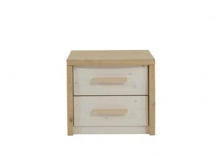 Nachttisch Kiefer massivholz zwei Schubladen Nachtkommode Nachtkonsole Kommode