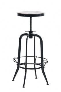 industial Barhocker schwarz Industrie Küchenhocker design Tresenhocker Metall
