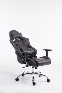 Chefsessel schwarz braun Kunstleder Bürostuhl Kopfstütze Zocker Gamer Gaming neu