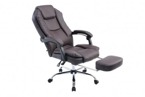 Bürostuhl 120 kg belastbar braun Kunstleder Chefsessel Computerstuhl Drehstuhl - Vorschau 2