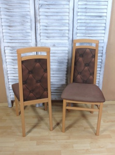 2 x Stühle Buche schoko massivholz Stuhlset modern design günstig preiswert neu