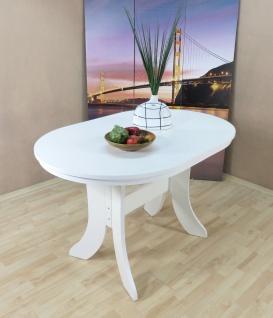 Auszugtisch oval weiß matt Esstisch Esszimmertisch Küchentisch ausziehbar neu