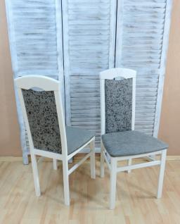 2 x Stühle weiß graphit Esszimmerstühle Stuhlset modern design günstig edel neu