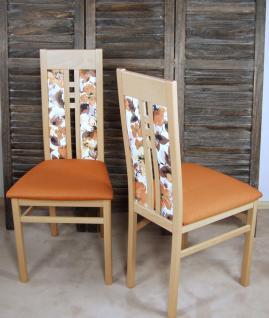 2er-Set moderne Esszimmerstühle massivholz Buche terra Polsterstuhl Stuhlset