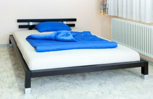 Futonbett 160x200 Kiefer massivholz schwarz Holzbett Ehebett Doppelbett günstig