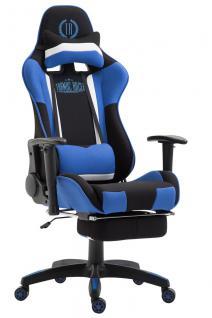 XL Chefsessel schwarz blau Stoffbezug Bürostuhl modern design hochwertig stabil