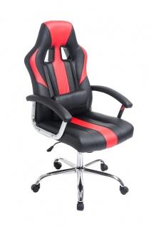 Bürostuhl 150 kg belastbar schwarz rot Kunstleder Chefsessel schwere Personen