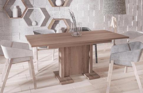 hochwertiger Säulentisch Wildeiche 130-210 ausziehbar Esstisch modern günstig