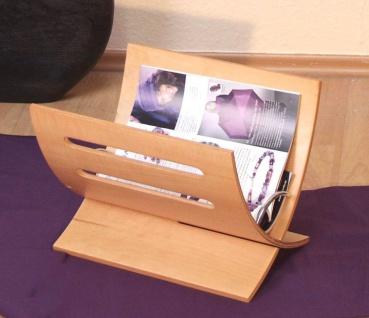 Zeitungsständer Holz natur Magazinhalter Zeitschriftenhalter Magazinständer