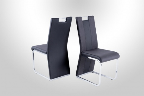 4 x Hochlehnstühle schwarz grau Hochlehnstuhl Stuhlset günstig preiswert neu