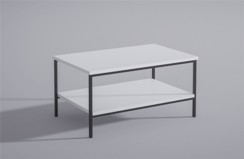 moderner Couchtisch Metall Hochglanz weiß edler Wohnzimmertisch Sofatisch design