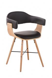 Esszimmerstuhl natura Holz braun Kunstleder Küchenstuhl Retro design modern