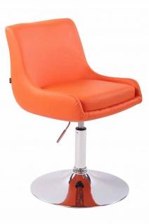 2 x Esszimmerstühle orange Kunstleder Stuhlset Küche drehbar design modern neu