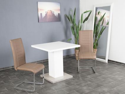 Esstisch weiß Betonoptik Säulentisch Esszimmer modern design günstig preiswert