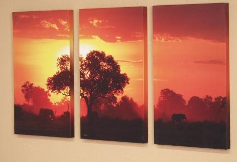 Wandbild Bild Wand Designbild Dekoration Wanddeko Rahmen massiv holz Afrika