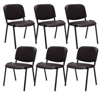 6 x Besucherstuhl braun Stuhlset Wartezimmer Messe stapelbar günstig preiswert