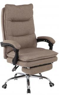 Bürostuhl 136 kg belastbar taupe Stoffbezug Chefsessel Drehstuhl stabil robust