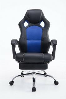 Chefsessel 115 kg belastbar schwarz blau Bürostuhl Drehstuhl Gaming Zocker Gamer