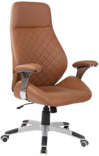breiter Bürostuhl hellbraun 150 kg belastbar Drehstuhl Chefsessel robust stabil