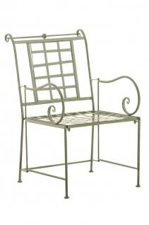 Gartenstuhl antik grün Lounge Garten Terrasse Nostalgie design Vintage Eisen