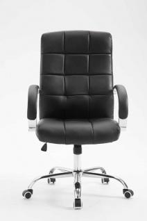 Bürostuhl 120 kg belastbar Kunstleder schwarz Chefsessel hochwertig klassisch - Vorschau 2