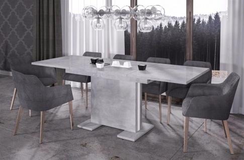 design Säulentisch Beton ausziehbar Auszug Esstisch modern günstig hochwerig neu
