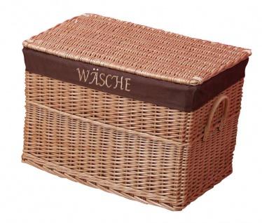 Wäschekorb mit Stoffeinsatz Wäschetruhe Weide Wäschebox Wäschesammler günstig