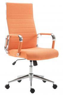 Chefsessel bis 136 kg belastbar orange Stoff Bürostuhl modern design hochwertig