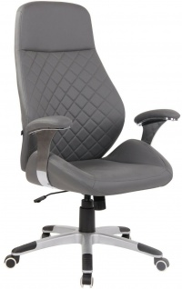 Chefsessel Kunstleder grau 150 kg belastbar Drehstuhl Bürostuhl modern design