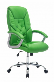 XXL Chefsessel 210kg belastbar grün Kunstleder Bürostuhl schwere Personen stabil