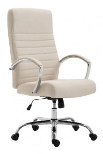 XL Bürostuhl bis 136 kg belastbar Stoffbezug creme Chefsessel hochwertig design