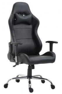 XL Bürostuhl 136 kg belastbar Kunstleder schwarz Chefsessel Gamer Zocker robust