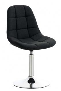 Esszimmerstuhl schwarz drehbar Stoffbezug Küchenstuhl design modern hochwertig