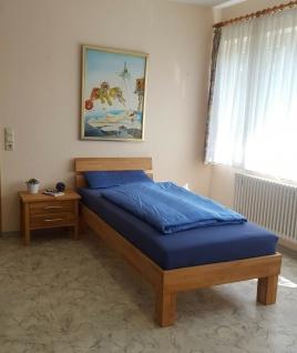 Komfortbett 90 x 200 cm Kernbuche massivholz geölt Bett Einzelbett Seniorenbett