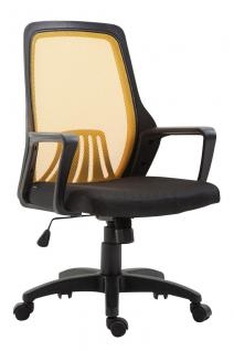Bürostuhl bis 120 kg schwarz gelb Netzbezug Drehstuhl günstig preiswert modern