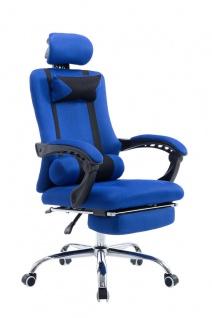 Bürostuhl blau Fußablage Chefsessel Zocker Gamer Gaming günstig stabil belastbar