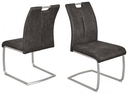 2 x Stühle Vintage grau Schwingstuhl Schwinger Esszimmerstühle modern design NEU