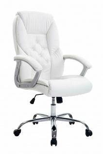 XXL Chefsessel 210kg belastbar weiß Kunstleder Bürostuhl schwere Personen stabil