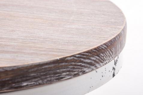 industial Barhocker antik weiß Industrie Küchenhocker design Tresenhocker Holz - Vorschau 2