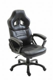 XL Bürostuhl 150 kg belastbar schwarz Kunstleder Chefsessel hochwertig stabil