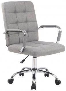 Bürostuhl 120 kg belastbar Stoffbezug hellgrau Drehstuhl modern design stabil