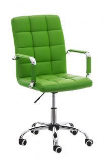 Bürostuhl grün Kunstleder Chefsessel hochwertig günstig modern design stabil