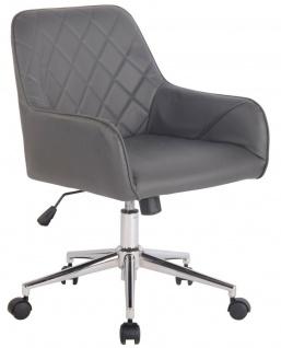Bürostuhl Chefsessel grau Kunstleder Drehstuhl Schreibtischstuhl modern design