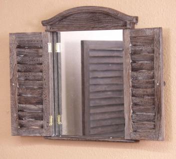 Spiegel Wandspiegel Türen aufklappbar massiv Landhaus antik weiss weiß braun