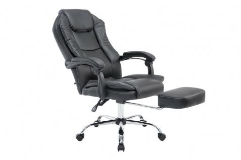 XL Chefsessel schwarz Kunstleder Bürostuhl Fußstütze Zocker Gamer Gaming stabil