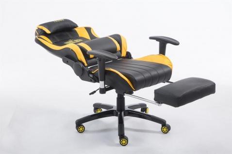 XL Bürostuhl 150 kg belastbar gelb Chefsessel Fußstütze Gaming Zockersessel - Vorschau 5